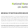 Jail Tip Sheets on Justice Involved Women